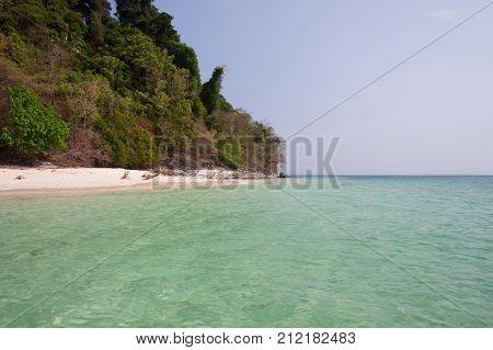 Emerald sea at Ranong sea Thailand .