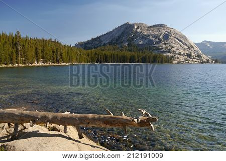 Mountain lake. Yosemite valley, Siera Nevada. California, USA