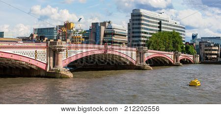 Blackfriars Bridge across River Thames, London, England