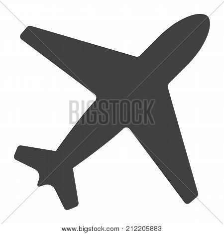 Airplane glyph icon, web and mobile, flight mode sign vector graphics, a solid pattern on a white background, eps 10.