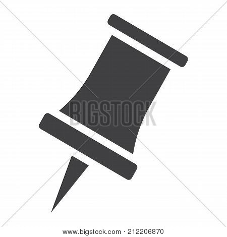 Push pin glyph icon, web and mobile, reminder sign vector graphics, a solid pattern on a white background, eps 10.