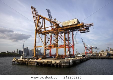 Red Hook Container Terminal In New York City