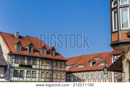 Colorful Half-timbered Houses At The Market Square Of Wernigerode