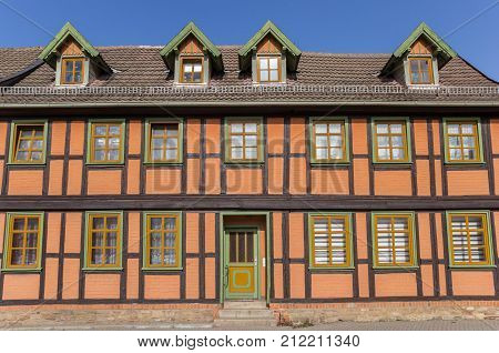 Colorful Half-timbered House In The Historic Center Of Wernigerode