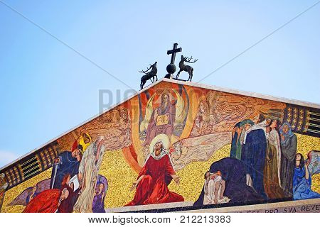 Church of All Nations, also known as the Basilica of the Agony. It is a Roman catholic church located on the Mount of Olives Jerusalem Israel poster