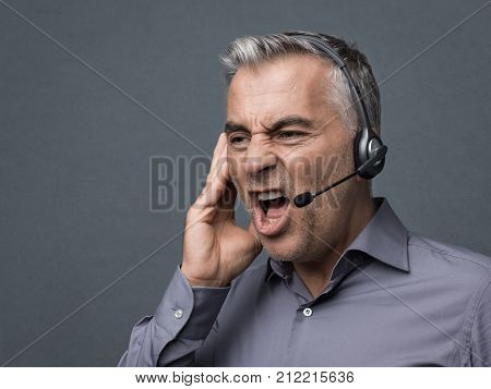 Angry Customer Support Phone Operator