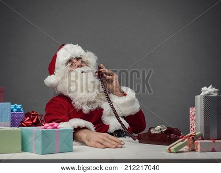 Santa Claus On The Phone