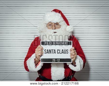 Santa Claus Mug Shot