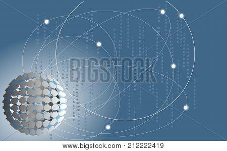 Globus and orbit for info media background