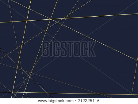 Royal thin line golden frame over dark background. business card with a retro geometric Gold polygonal pattern in Art deco style. Vector illustration
