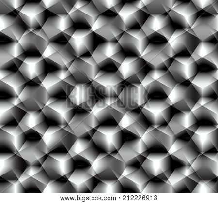 Abstract seamless pattern simulating the complex surface of the coarse abrasive emery paper or some complex crystal lattice