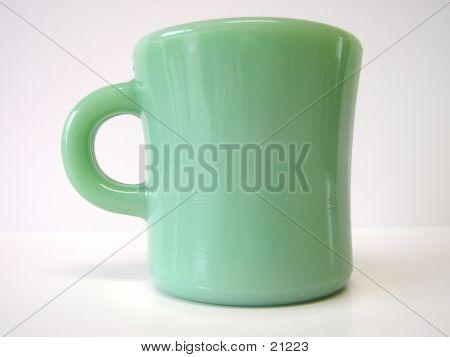 Taza verde Vintage