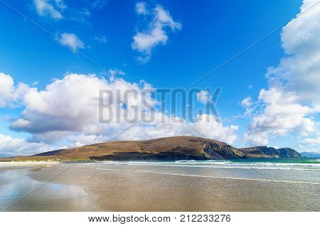 Beautiful Rural Irish Country Nature Landscape From The North West Of Ireland. Scenic Achill Island