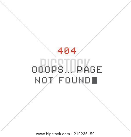 Pixel 404 error page. Page not found
