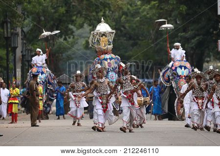 Tooth festival procession of Kandy in Sri Lanka, 08. August 2017