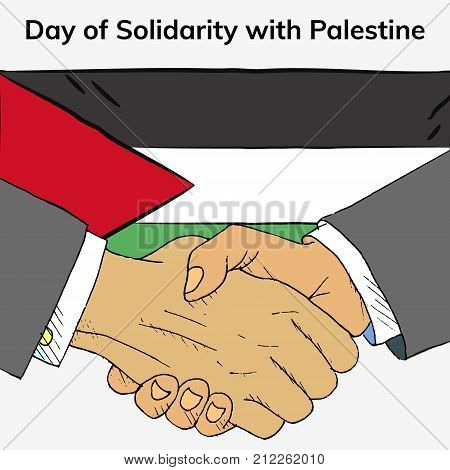 International day of solidarity with the palestinian people. Flat vector illustration poster