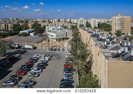 Beer-sheba, Israel - November, 04, 2017: City Neighborhood At Morning