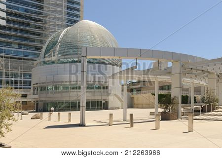 San Jose, CA - April 29, 2013: San Jose city hall a modern architecture city hall representative of this forward thinking city-Editorial use only