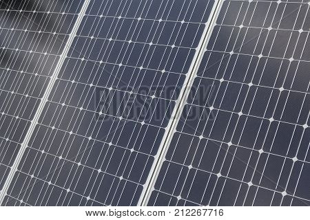 Panel solar battery is close up. Industry