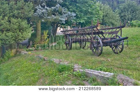 historic wooden carriage eastern Bohemia Czech Republic