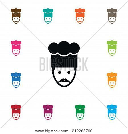 Gastronomy Vector Element Can Be Used For Chef, Cook, Gastronomy Design Concept.  Isolated Chef Icon.