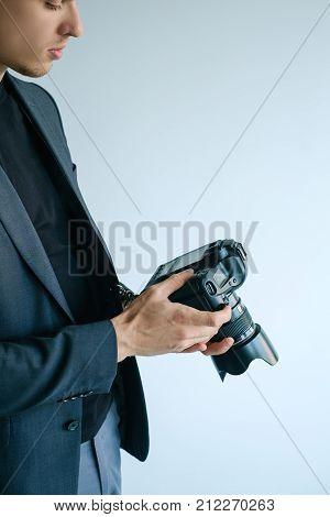 photography art camera equipment creative photographer lifestyle. Working process.