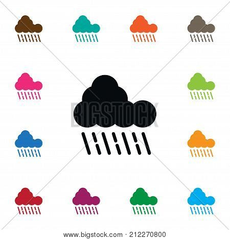 Cloudy Vector Element Can Be Used For Cloudy, Rainy, Raindrop Design Concept.  Isolated Raindrop Icon.
