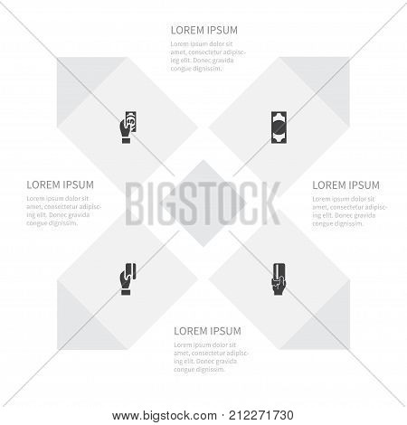 Icon Success Set Of Currency, Cashless, Debit And Other Vector Objects