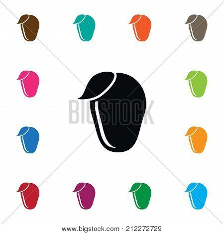 Tropical  Vector Element Can Be Used For Cashew, Mango, Tropical Design Concept.  Isolated Cashew Icon.