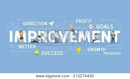 Improvement concept illustration. Idea of success, growth and profit.