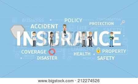 Insurance concept illustration. Idea of protection, safety and policy.