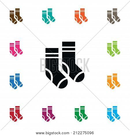 Hosiery Vector Element Can Be Used For Half-Hose, Hosiery, Sock Design Concept.  Isolated Socks Icon.