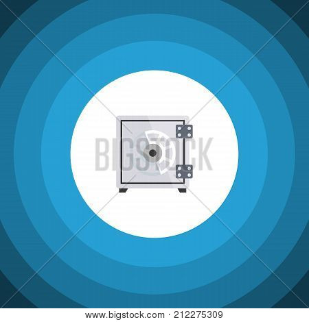 Security Vector Element Can Be Used For Safe, Strongbox, Security Design Concept.  Isolated Safe Flat Icon.