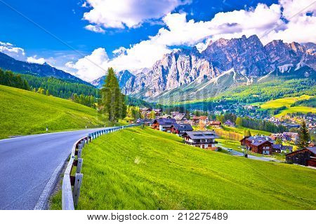 Road To Cortina D' Ampezzo In Dolomites Alps