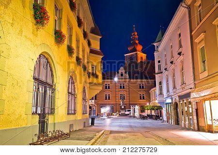 Town Of Ptuj Historic Street Evening View