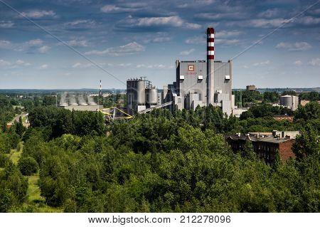 CHORZOW/POLAND - JUNE 12. 2016. Heating powerplant at chorzow. Silesian voivodship. Poland