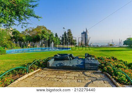 Hazikaron (memorial) Garden, In Haifa