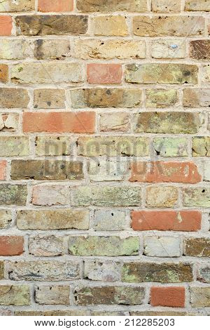 Old vintage brick wall texture close up