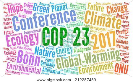 COP 23 in Bonn, Germany ord cloud illustration