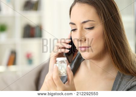 Woman Requesting Information About A Medicine