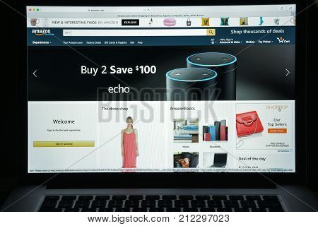 Milan, Italy - August 10, 2017: Amazon Website Homepage. It Is An American Electronic Commerce And C