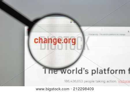 Milan, Italy - August 10, 2017: Change.org Website Homepage. It Is A Petition Website Operated By Fo