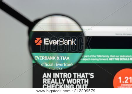 Milan, Italy - August 10, 2017: Everbank Bank Website Homepage. It Is An American Diversified Financ
