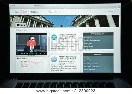 Milan, Italy - August 10, 2017: Fitch Ratings Website Homepage. It Is One Of The