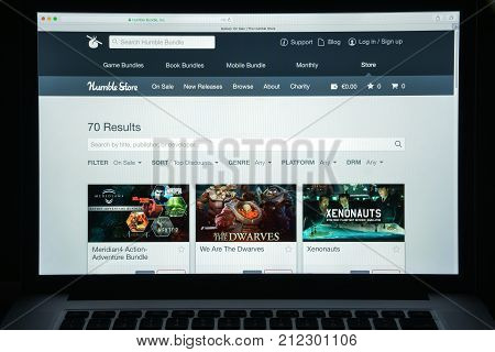 Milan, Italy - August 10, 2017: Humblebundle.com Website Homepage. It Is A Digital Storefront For Vi