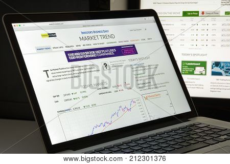 Milan, Italy - August 10, 2017: Investors Website Homepage. Investors Logo Visible.