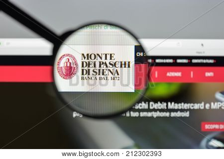 Milan, Italy - August 10, 2017: Monte Dei Paschi Di Siena Bank Website Homepage. Known As Bmps Or Ju