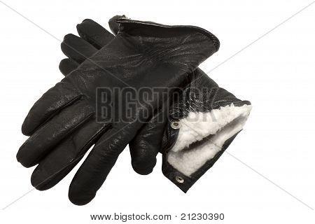 pair of black gloves