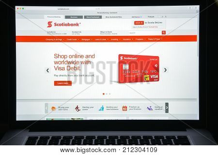 Milan, Italy - August 10, 2017: Scotiabank Bank Website Homepage. It Is A Canadian Multinational Ban