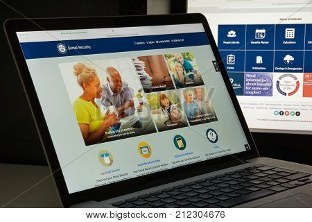 Milan, Italy - August 10, 2017: Ssa Website Homepage. It Is S An Independent Agency Of The U.s. Fede